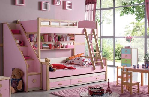 Giường tầng công chúa cho bé gái BB001