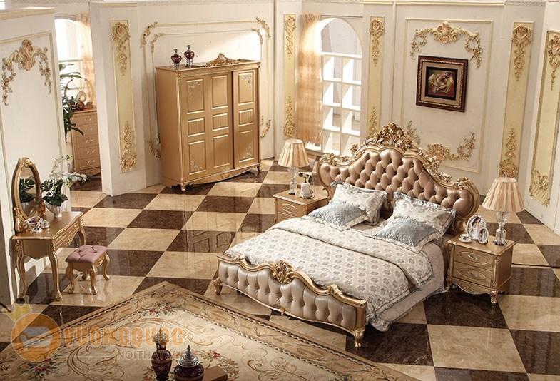 Giường ngủ cổ điển phong cách Châu ÂU SCS-A15