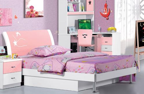 Giường ngủ cho bé gái trắng hồng ngọt ngào