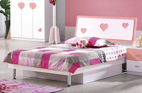 Giường công chúa cho bé gái BL968G ( 3 Trái tim)