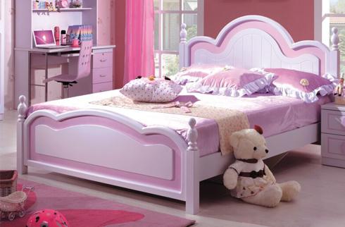 Giường ngủ công chúa cho bé trắng tím Baby