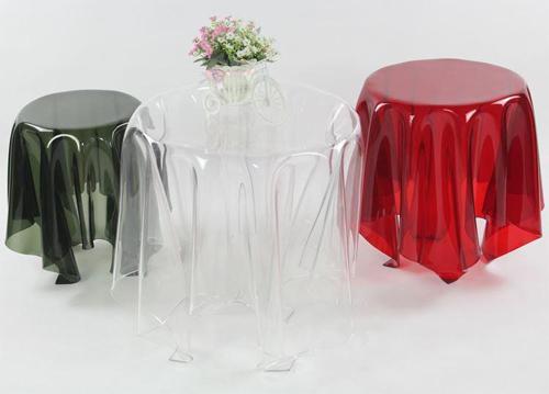 Kinh ngạc với thiết kế bàn trà độc đáo giống hệt tấm vải nhìn xuyên thấu