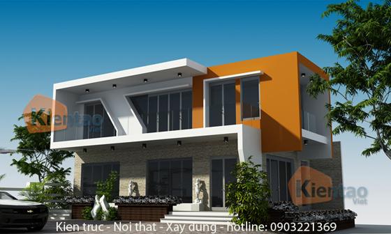 Tư vấn thiết kế biệt thự 2 tầng DT 80m2 hiện đại