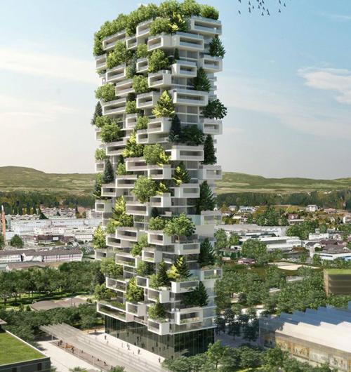 Ấn tượng với những tòa nhà bao bọc bởi hàng nghìn cây xanh
