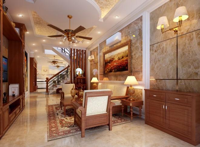 Tư vấn xây nhà 4 tầng sang trọng theo phong cách bán cổ điển
