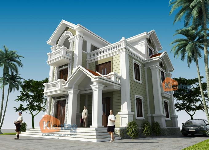 Tư vấn thiết kế biệt thự 3 tầng theo kiến trúc Pháp cổ điển
