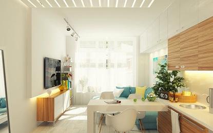 Đắm chìm trong căn hộ nhỏ 29m² ấm cúng với gam pastel dịu nhẹ