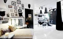 Ngắm căn hộ nhỏ 39m² cực chất với tone màu đen - trắng kinh điển