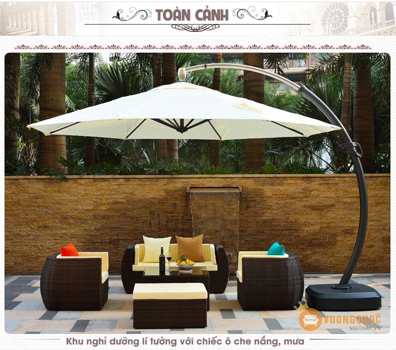 Hướng dẫn chọn mua ô ngoài trời tốt nhất cho khu vườn thêm xinh