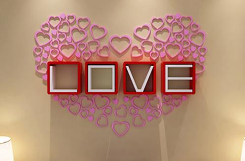 KỆ TREO TƯỜNG HÌNH CHỮ LOVE CY-01