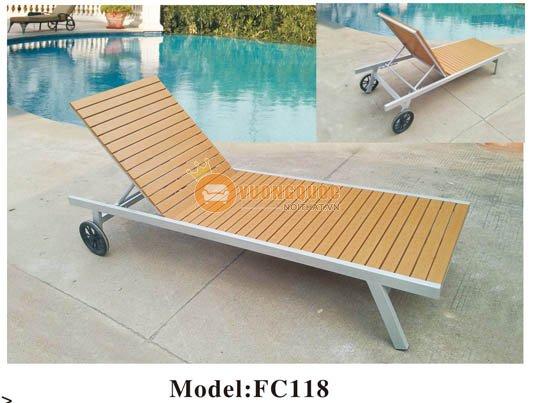 Giường tắm nắng bể bơi ZXFC118