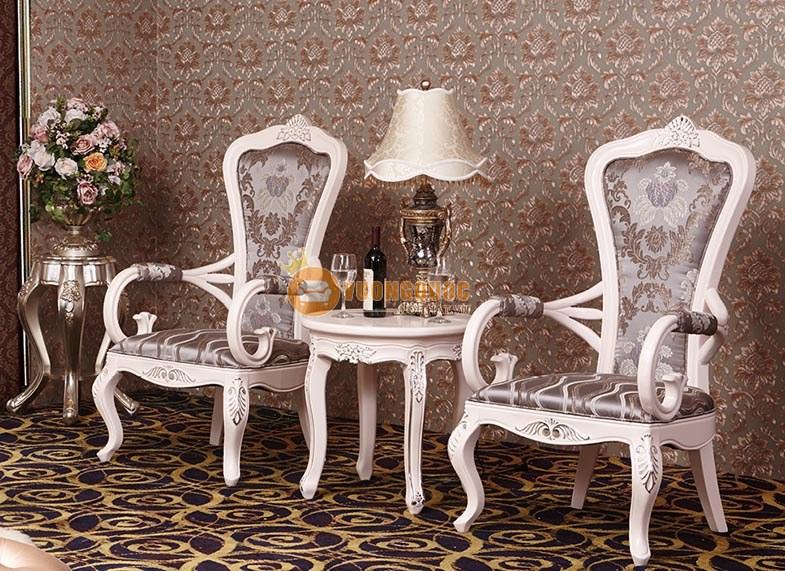 Bộ bàn ghế gỗ phòng khách phong Cách Châu Âu RA801BT