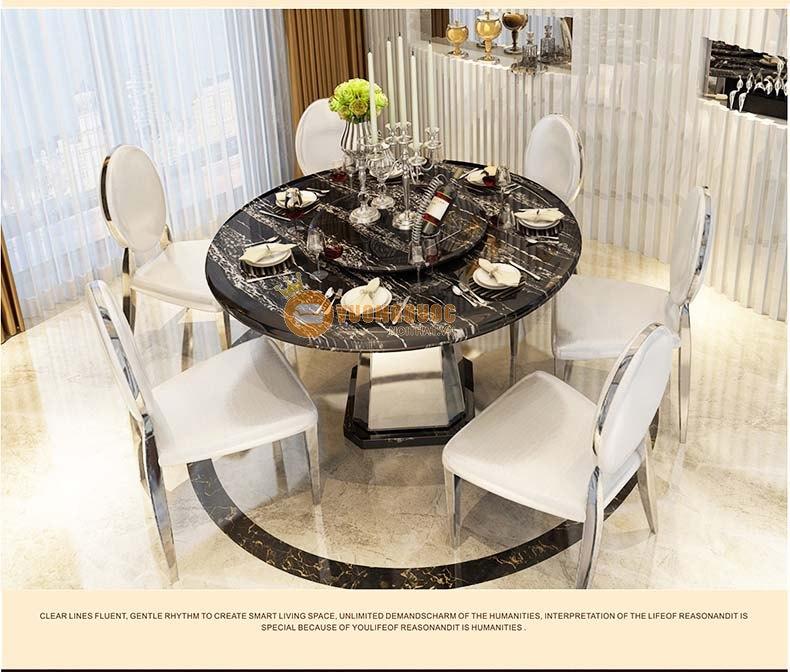Bộ bàn ghế ăn hiện đại KMT008
