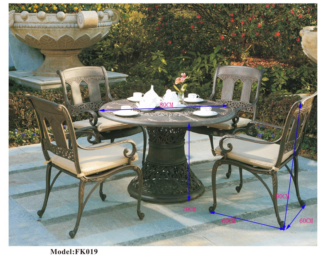 Bộ bàn ghế ngoài trời nhập khẩu mã (ZXFK019)