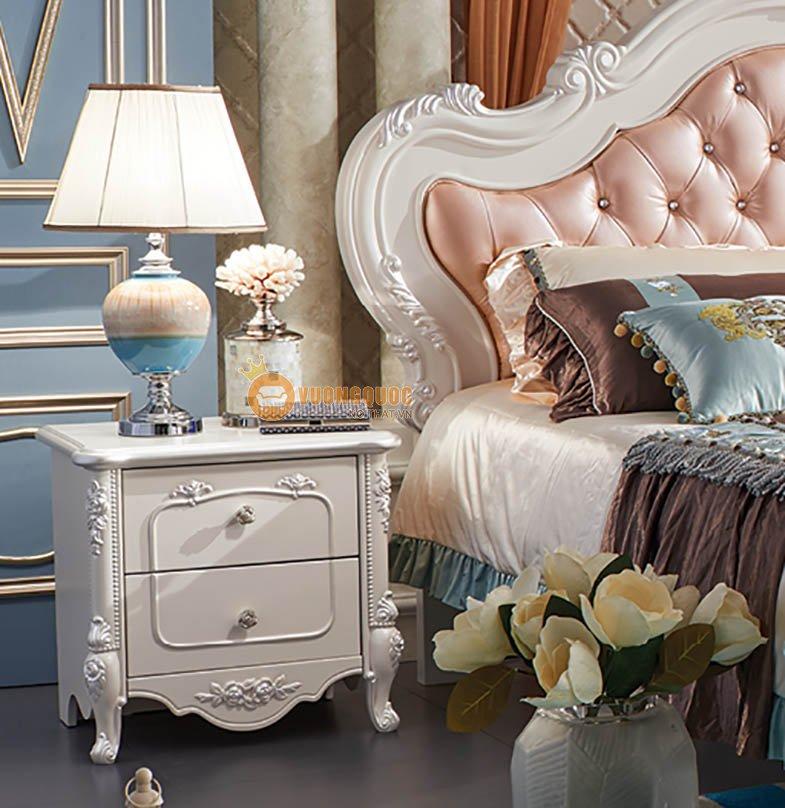 giường ngủ cổ điển sắc hồng ngọt ngào JY926