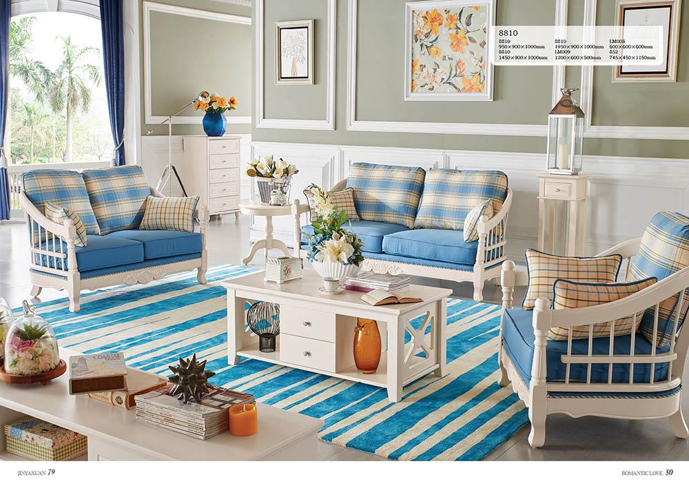 Mẫu bàn ghế sofa gỗ phòng khách nhập khẩu JY8810