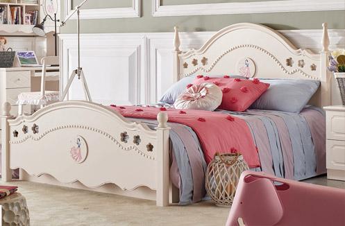 Giường ngủ cho bé gái nhập khẩu JY6603G