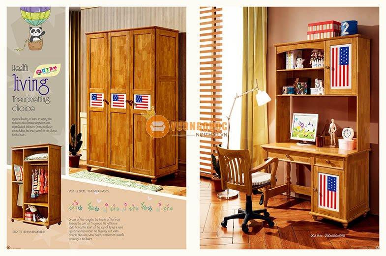 Phòng ngủ họa tiết cờ mỹ LSL202-5