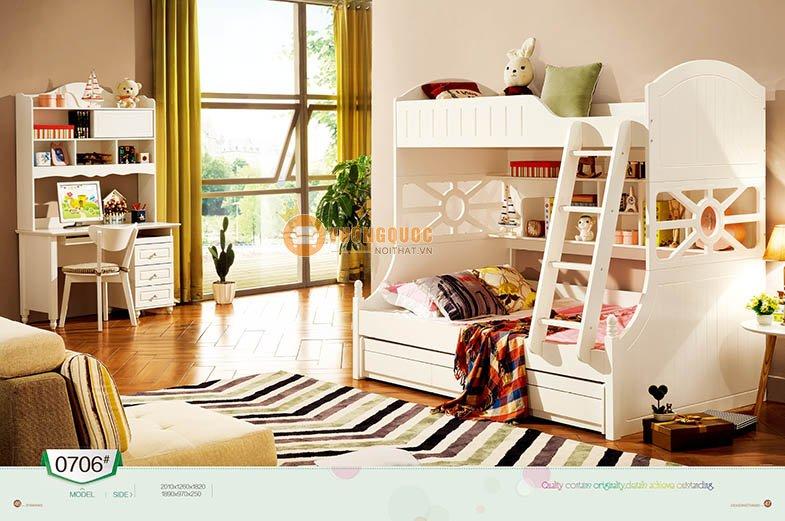 Phòng ngủ màu kem tươi sáng LSL0706-3