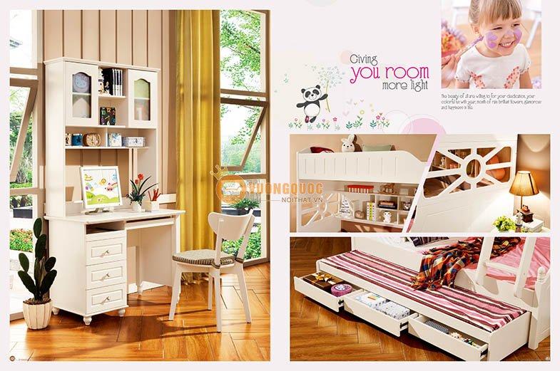 Phòng ngủ màu kem tươi sáng LSL0706-4