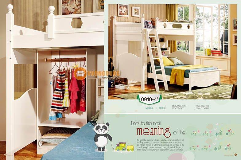 Giường 2 tầng cho bé đa năng LSL0910