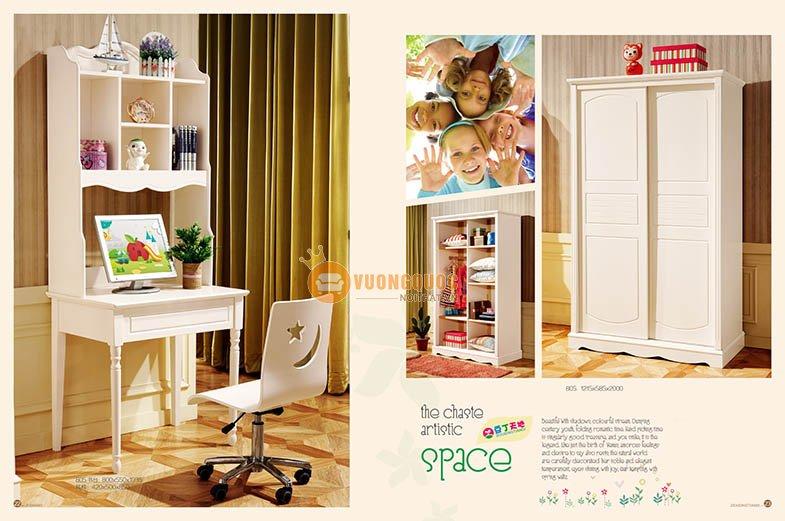 phòng ngủ công chúa hiện đại lsl805- 4