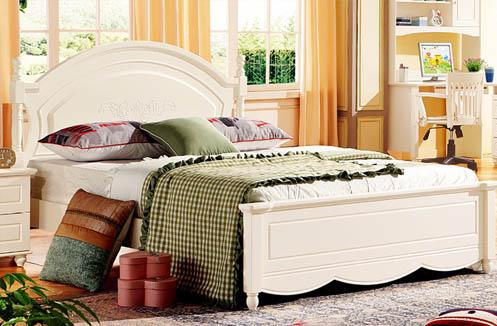 Giường ngủ cho bé gái trắng kem đáng yêu LSL806G