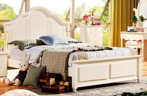 Bộ giường ngủ cho bé gái kiểu công chúa LSL809G