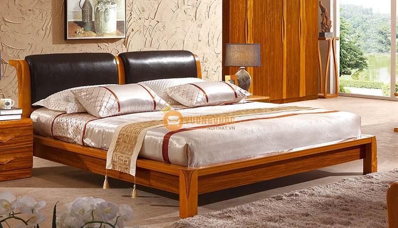 Giường ngủ gỗ tự nhiên nhập khẩu CNS3A008