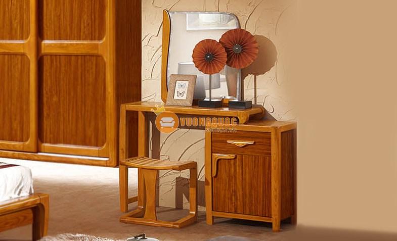 Bộ phòng ngủ gỗ tự nhiên hiện đại CNS3A006 - Bàn trang điểm