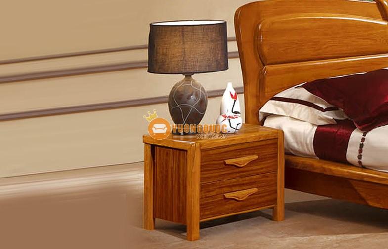 Bộ phòng ngủ gỗ tự nhiên hiện đại CNS3A006 - Tab giường