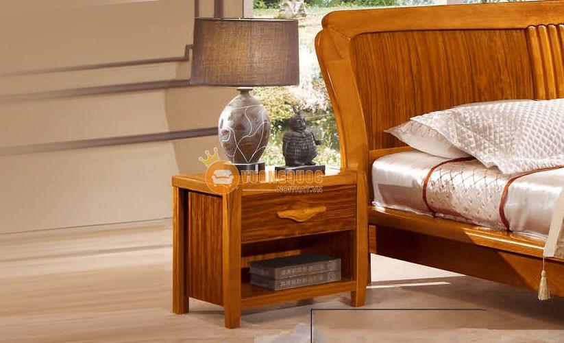 Bộ phòng ngủ đẹp gỗ tự nhiên CNS3A007 - Tab đầu giường