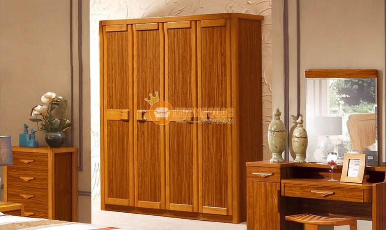Bộ phòng ngủ đẹp gỗ tự nhiên CNS3A007 - Tủ quần áo