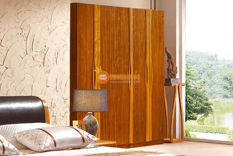 Bộ nội thất phòng ngủ gỗ tự nhiên CNS3A008 - Tủ quần áo