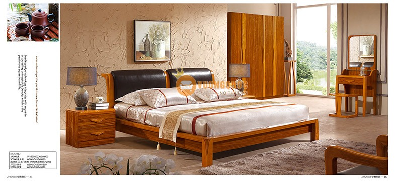 Bộ nội thất phòng ngủ gỗ tự nhiên CNS3A008 - Phòng ngủ đồng bộ