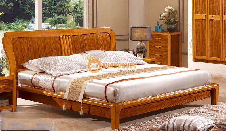 Bộ phòng ngủ đẹp gỗ tự nhiên CNS3A007 - Giường