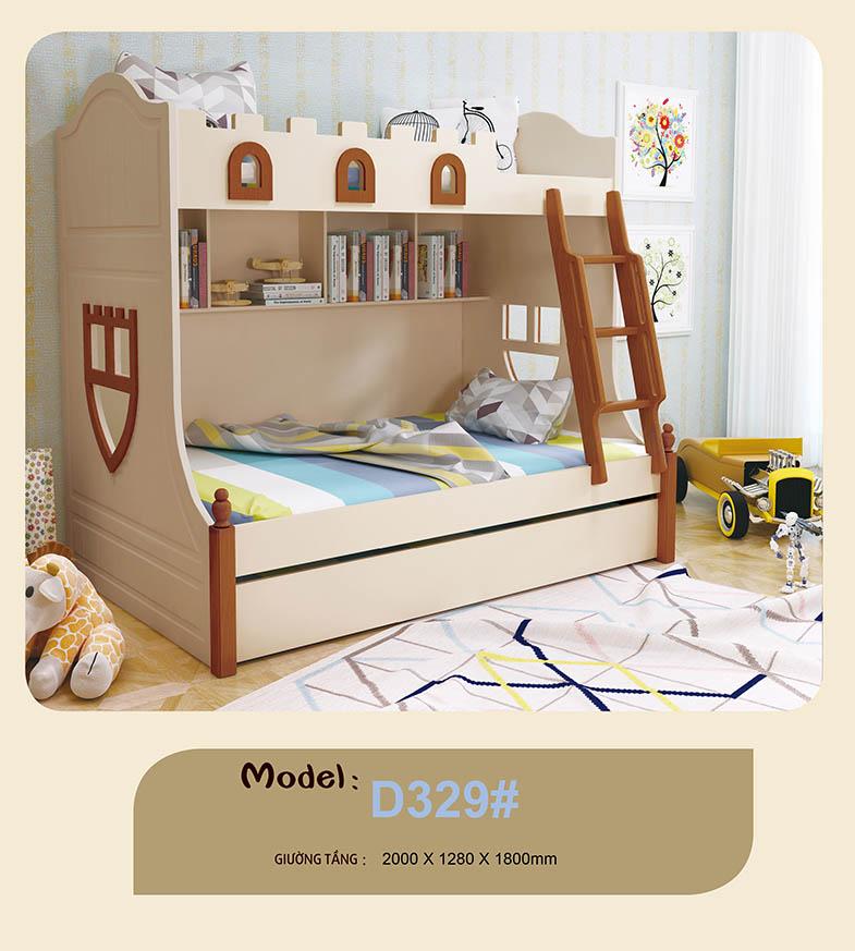 Giường tầng trẻ em nhập khẩu HHM329-1
