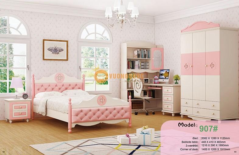 Tủ quần áo cho bé gái HHM907TU - Hồng