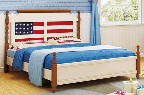Giường ngủ họa tiết cờ Mỹ cho be trai HHMD301G