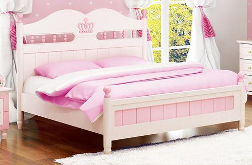 Giường ngủ sắc hồng công chúa cho bé gái HHM916G