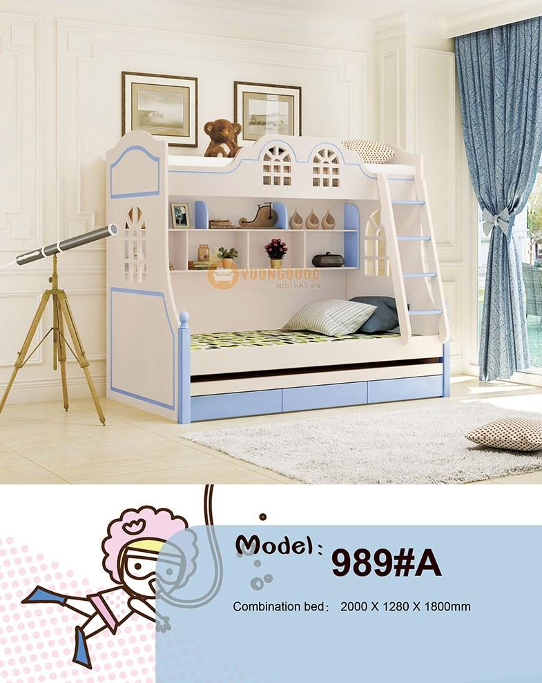 Giường tầng trẻ em loại 2 tầng HHM989A