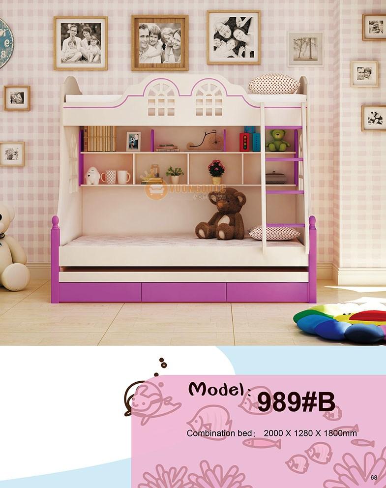 Gường tầng trẻ em HHM989A-2