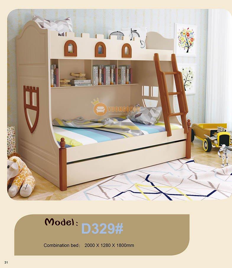 Giường ngủ 2 tầng trẻ em đa năng HHMD329