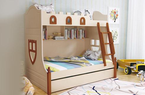 giường tầng trẻ em gỗ cao cấp HHMD329