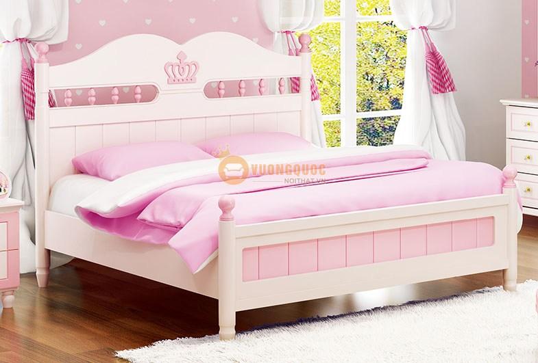 Phòng ngủ cho bé gái đồng bộ HVM916 - Giường ngủ