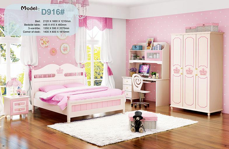 Phòng ngủ cho bé gái đồng bộ HVM916