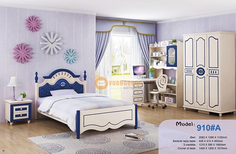 Bộ phòng ngủ cho bé trai xanh dương HHM910A-5