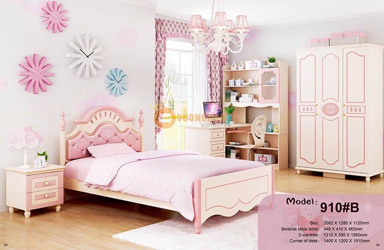 Giường ngủ công chúa cao cấp HHM910B-G