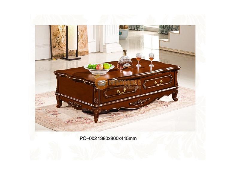 Bàn trà gỗ phòng khách CBLPC002T - Phong cách tân cổ điển