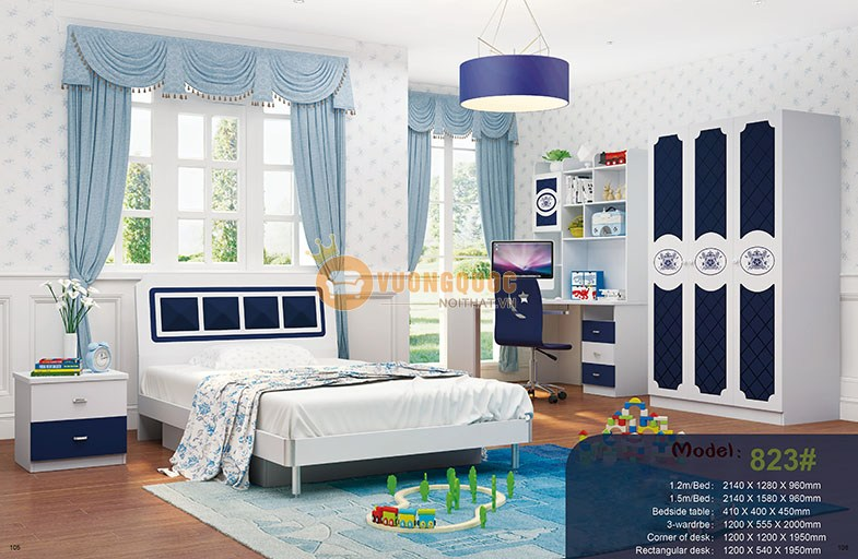 Nội thất phòng ngủ trẻ em nhập khẩu cao cấp HHM823-5